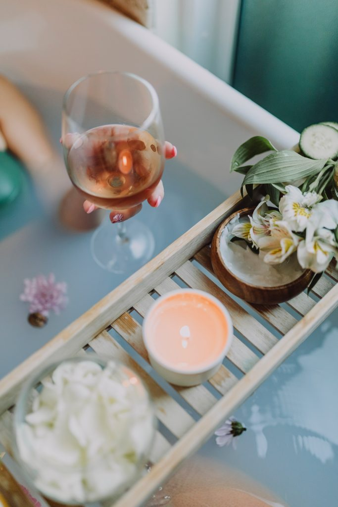 Focusing on self-care. Take a bath, on your own, with wine or drink of your choice, light a candle and put some music on and you will feel like you are in absolute bliss.