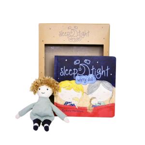 Sleep tight worry doll and book - boy/unisex